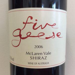 Five Geese Shiraz